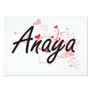 """Diseño conocido artístico de Anaya con los Invitación 5"""" X 7"""""""
