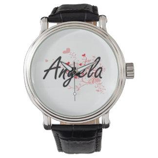 Diseño conocido artístico de Angela con los Relojes De Pulsera