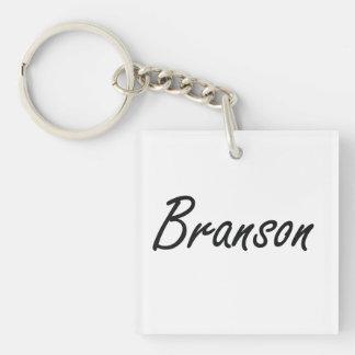 Diseño conocido artístico de Branson Llavero Cuadrado Acrílico A Una Cara
