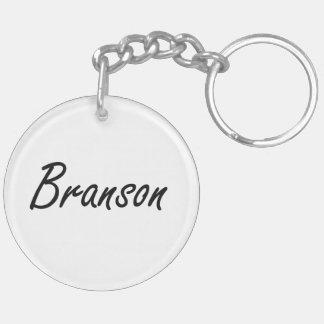 Diseño conocido artístico de Branson Llavero Redondo Acrílico A Doble Cara
