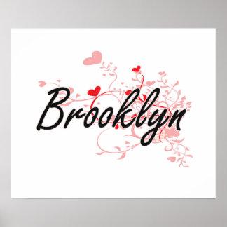 Diseño conocido artístico de Brooklyn con los Póster