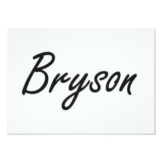 """Diseño conocido artístico de Bryson Invitación 5"""" X 7"""""""