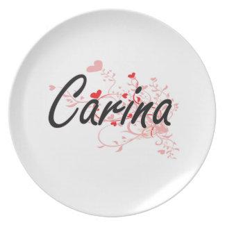 Diseño conocido artístico de Carina con los Platos De Comidas