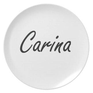 Diseño conocido artístico de Carina Plato De Comida