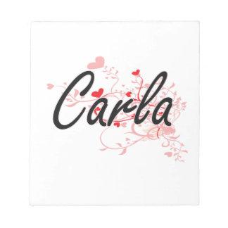 Diseño conocido artístico de Carla con los Libretas Para Notas