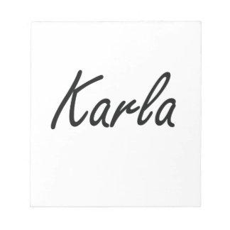 Diseño conocido artístico de Carla Libretas Para Notas