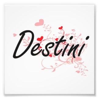 Diseño conocido artístico de Destini con los Fotografías