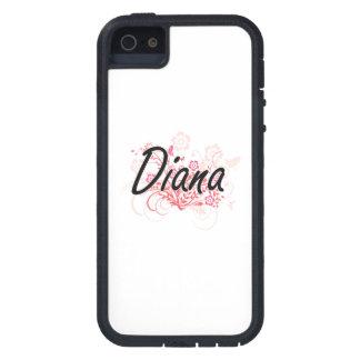Diseño conocido artístico de Diana con las flores Funda Para iPhone 5 Tough Xtreme