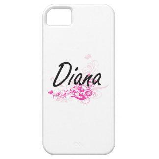 Diseño conocido artístico de Diana con las flores iPhone 5 Carcasas
