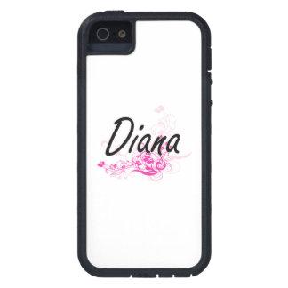 Diseño conocido artístico de Diana con las flores iPhone 5 Fundas