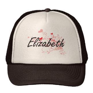 Diseño conocido artístico de Elizabeth con los Gorros Bordados