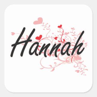 Diseño conocido artístico de Hannah con los Pegatina Cuadrada