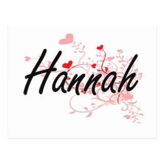 Diseño conocido artístico de Hannah con los Postal
