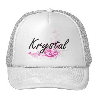 Diseño conocido artístico de Krystal con las Gorras