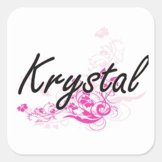 Diseño conocido artístico de Krystal con las Pegatina Cuadrada