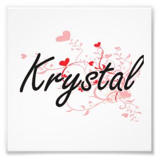 Diseño conocido artístico de Krystal con los Cojinete