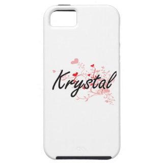Diseño conocido artístico de Krystal con los iPhone 5 Carcasa
