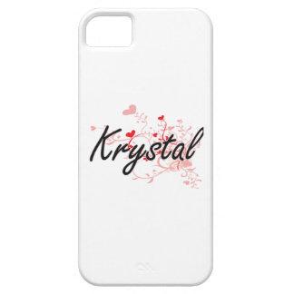 Diseño conocido artístico de Krystal con los iPhone 5 Fundas
