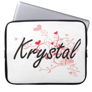 Diseño conocido artístico de Krystal con los Funda Ordendadores