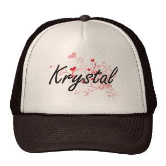 Diseño conocido artístico de Krystal con los Gorro De Camionero