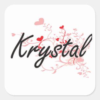Diseño conocido artístico de Krystal con los Pegatina Cuadrada
