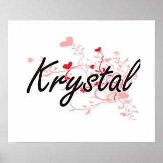 Diseño conocido artístico de Krystal con los Póster