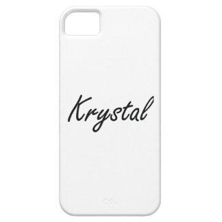 Diseño conocido artístico de Krystal iPhone 5 Fundas