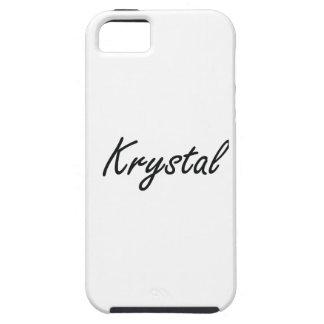 Diseño conocido artístico de Krystal iPhone 5 Funda