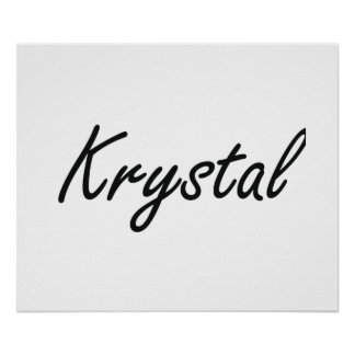 Diseño conocido artístico de Krystal Póster
