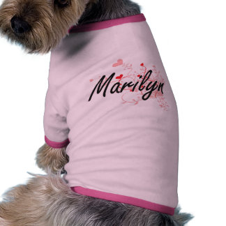 Diseño conocido artístico de Marilyn con los Camiseta Con Mangas Para Perro