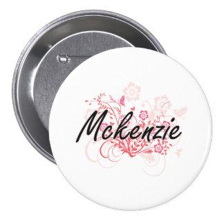 Diseño conocido artístico de Mckenzie con las Pin Redondo 7 Cm