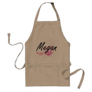 Diseño conocido artístico de Megan con las flores Delantal