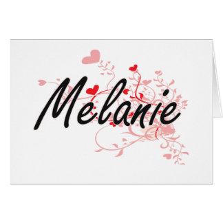 Diseño conocido artístico de Melanie con los Tarjeta Pequeña