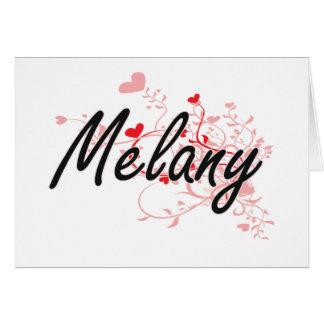 Diseño conocido artístico de Melany con los Tarjeta Pequeña