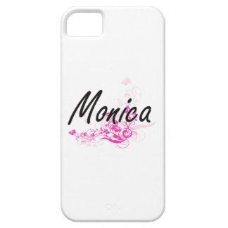 Diseño conocido artístico de Mónica con las flores iPhone 5 Carcasa