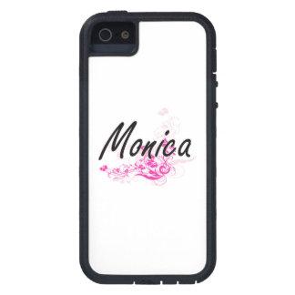 Diseño conocido artístico de Mónica con las flores iPhone 5 Fundas