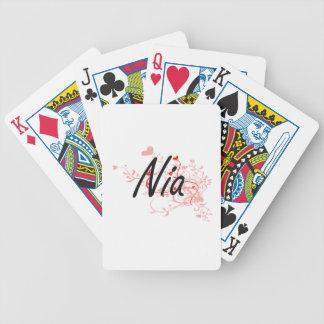 Diseño conocido artístico de Nia con los corazones Barajas