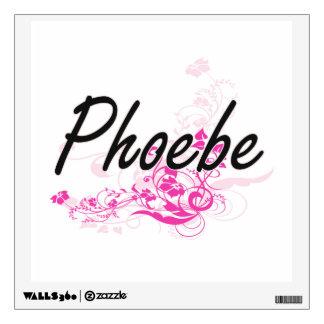 Diseño conocido artístico de Phoebe con las flores