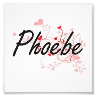 Diseño conocido artístico de Phoebe con los Fotografías
