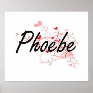 Diseño conocido artístico de Phoebe con los Póster