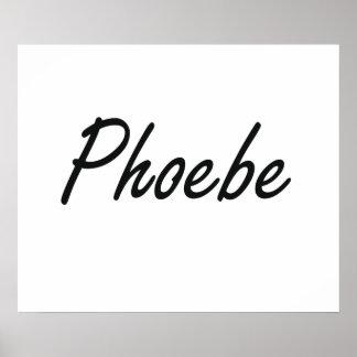 Diseño conocido artístico de Phoebe Póster