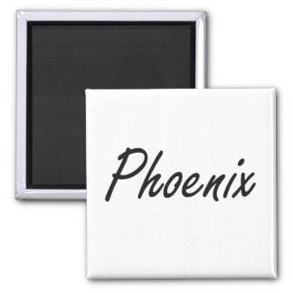 Diseño conocido artístico de Phoenix Imán Cuadrado