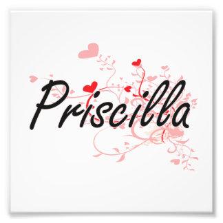 Diseño conocido artístico de Priscilla con los Fotografía