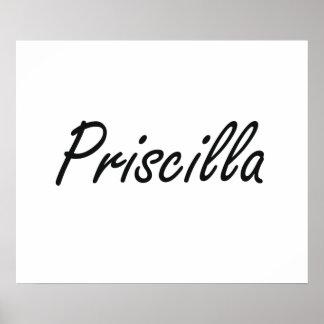 Diseño conocido artístico de Priscilla Póster