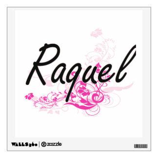 Diseño conocido artístico de Raquel con las flores Vinilo Adhesivo