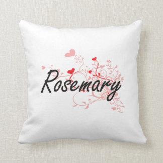 Diseño conocido artístico de Rosemary con los Cojín