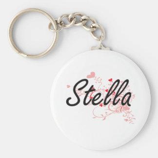 Diseño conocido artístico de Stella con los Llavero Redondo Tipo Pin
