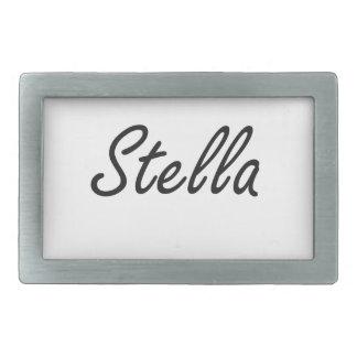 Diseño conocido artístico de Stella Hebilla De Cinturon Rectangular