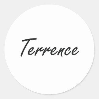 Diseño conocido artístico de Terrence Pegatina Redonda
