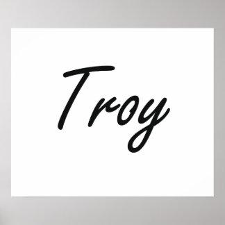 Diseño conocido artístico de Troy Póster
